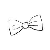 Doodle retro łęku krawat