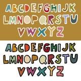 Doodle retro alphabet in vector Royalty Free Stock Photos