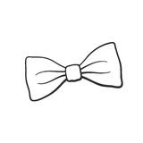 Doodle of retro bow tie. Vector illustration. Hand drawn doodle of hipster retro bow tie. Vintage elegant bowtie. Cartoon sketch. Decoration for greeting cards vector illustration