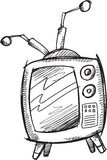 Doodle Retro Television Vector Stock Images