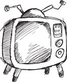 Doodle Retro Television Vector Royalty Free Stock Photo