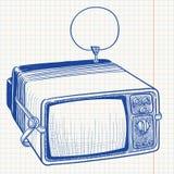 Doodle Retro TV Royalty Free Stock Photos