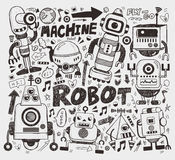 Doodle robot element Stock Photo