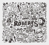 Doodle robot element Royalty Free Stock Photo