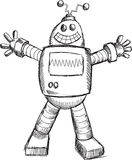 Doodle Robot Vector Royalty Free Stock Photography