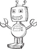 Doodle Robot Vector Stock Images
