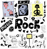 Doodle rock music Stock Photos