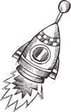 Doodle Rocket Vector Stock Photo