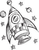 Doodle Rocket Vector Royalty Free Stock Photos