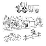 Doodle rolny ciągnik Fotografia Royalty Free