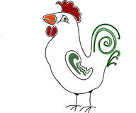 Doodle Rooster Stock Photo