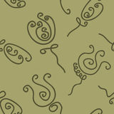Doodle roses seamless pattern Stock Image
