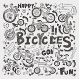 Doodle roweru element Obrazy Royalty Free
