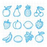 Doodle rysować owoc Obrazy Royalty Free