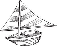 Doodle Sail Boat Vector Royalty Free Stock Images