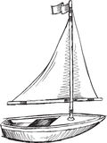 Doodle Sail Boat Vector Stock Photography