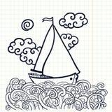Doodle sailfish royalty ilustracja