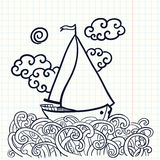 Doodle sailfish Royalty Free Stock Photo