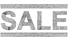 Doodle Sale Banner Stock Photography