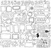 Doodle sale design elements Royalty Free Stock Photography