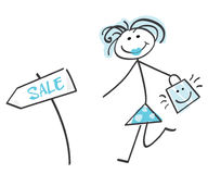 Doodle sale girl – blue Stock Image