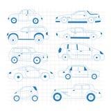Doodle samochodu kolekcja Samochód odizolowywający set ilustracji