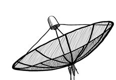 Doodle Satellite Dish. Royalty Free Stock Images