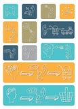 Doodle scheme main activities telephone marketing Royalty Free Stock Photos