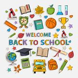 Doodle school Stock Images