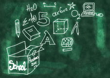 Doodle School blackboard Stock Images