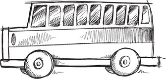 Doodle School Bus Vector Royalty Free Stock Photo