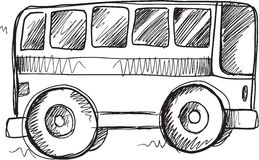 Doodle School Bus Vector Stock Photography
