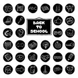 Doodle school buttons. Stock Photos