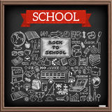 Doodle school icons set Stock Photography