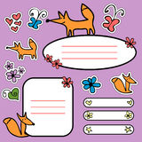 Doodle scrapbook elements Stock Images