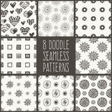 Doodle seamlees patterns vector illustration