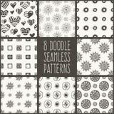 Doodle seamlees patterns Royalty Free Stock Photos