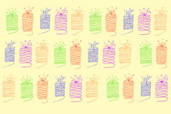 Doodle seamless background, gift Royalty Free Stock Images
