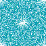 Doodle seamless background in vector with doodles, flowers and paisley. Royalty Free Stock Photography