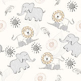 Doodle seamless pattern. Sweet babies doodle seamless pattern. Pastel background Royalty Free Stock Photography