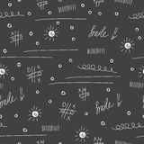 Doodle seamless pattern background. School theme. Hand drawn elements Royalty Free Stock Photography