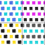 Doodle seamless pattern collection. Royalty Free Stock Photo