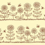 Doodle seamless pattern Stock Photography