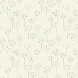 Doodle seamless pattern of dandelions Royalty Free Stock Images