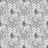 Doodle seamless pattern with flowers. Creative textile swatch or packaging design. Adult coloring book page. Stock Photo