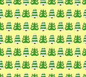 Doodle  seamless pattern of green christmas fir tree. Doodle  seamless pattern of green abstract christmas fir tree Stock Images