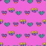 Doodle seamless pattern with hearts Royalty Free Stock Photos