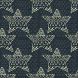 Doodle Seamless pattern with stars Royalty Free Stock Image