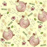 Doodle seamless pattern Royalty Free Stock Photos