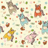 Doodle seamless pattern Stock Images